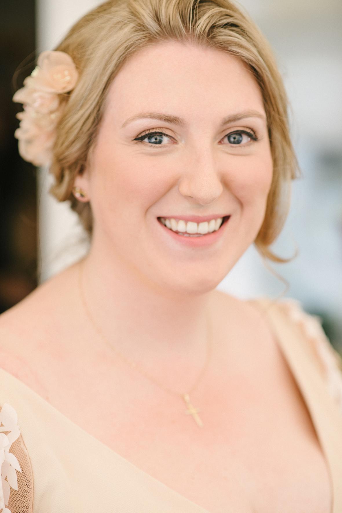Clare Allan bridal floral headpiece